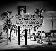 Welcome To Las Vegas Sign Series 5 of 6 Holga Infrared by RickyBarnard