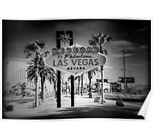 Welcome To Las Vegas Sign Series 5 of 6 Holga Infrared Poster