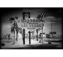 Welcome To Las Vegas Sign Series 5 of 6 Holga Infrared Photographic Print