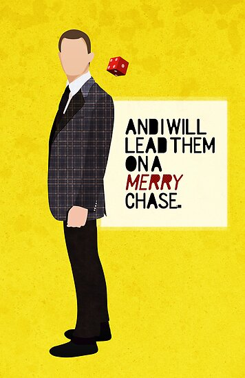 Minimalist Movie Poster: And I will lead them on a merry chase by Bliss Ng
