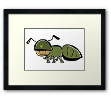 in the army Framed Print