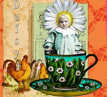 Daisy Baby Tea Collage  by Jeweledfrog