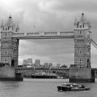 Tower Bridge in Black & White by Tony Steel