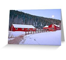 The Winter Rural Route II Greeting Card