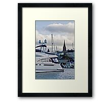 Inside the Marina Framed Print