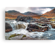 Waterfall On The River Etive Canvas Print