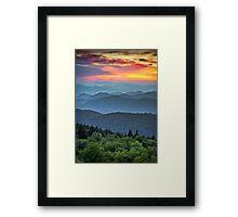 Blue Ridge Parkway Sunset - The Great Blue Yonder Framed Print