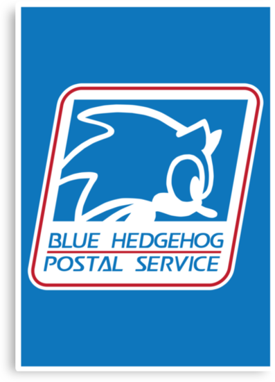 BLUE HEDGEHOG POSTAL SERVICE by DREWWISE