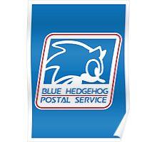 BLUE HEDGEHOG POSTAL SERVICE Poster