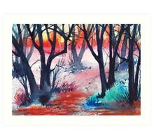 Inktense Trees Art Print