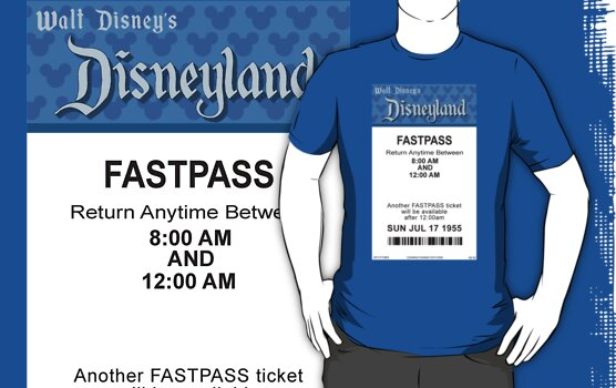 Disneyland's Opening Day Fastpass by Rechenmacher