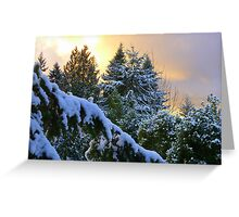 Frosty Alpenglow Greeting Card