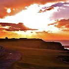 Sunset at Worms Head, Gower by markdavies87