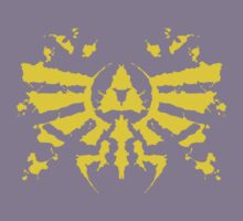 Hyrule Rorschach (gold) Kids Clothes