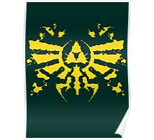 Hyrule Rorschach (gold) Poster