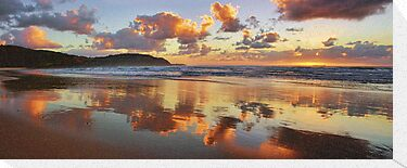 Reflections - Frazer Beach Sunrise by Tam  Locke