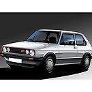 VW Golf GTI 1983 MK1 Illustration by Autographics