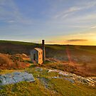 Cornwall: Sunset Halo at The Prince of Wales Engine House by Rob Parsons
