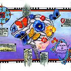 Life Map, Right Brain Alma Lee,sketchbook project 2012 by Alma Lee