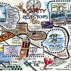 Life Map,Insanity knows no rest stops Alma Lee,sketchbook project 2012 by Alma Lee