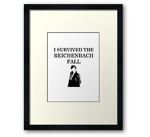 I survived the Reichenbach fall Framed Print