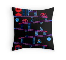 DONKEY TRON Throw Pillow