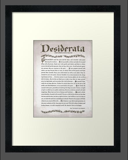 Charcoal DESIDERATA by Desiderata4u