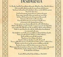Golden DESIDERATA by Desiderata4u