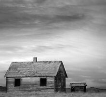 Rustic Rural House in the Country BW by Bo Insogna