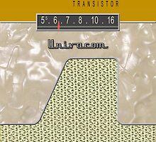 Vintage Transistor Radio - Gold by ubiquitoid