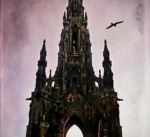 Scott Monument Edinburgh Scotland by Den McKervey