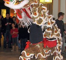 Lion dance at Hillcrest Mall by Jeanette Muhr