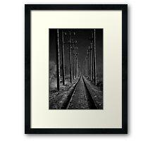 The Tracks Less Traveled Framed Print