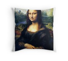 Mona Lisa Restored Throw Pillow