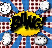 Original Bang Pop Art Illustration like old comic book sound by barbersu