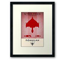 Romulan Grand Executioner Framed Print