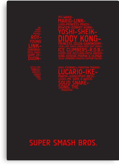 Super Smash Bros. Typography by TitanVex