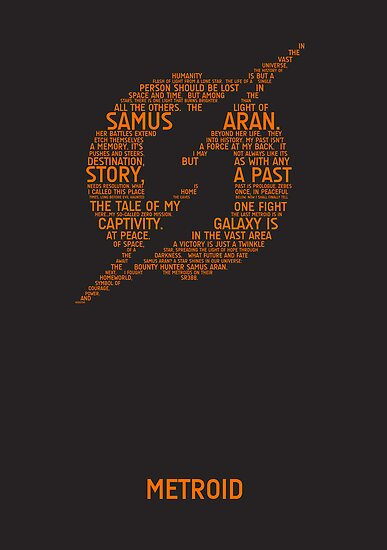 Metroid Typography by TitanVex