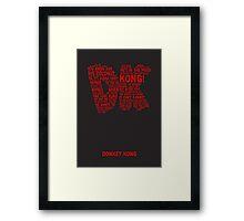 Donkey Kong Poster Framed Print