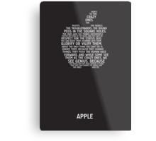 Apple Typography Metal Print