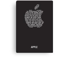 Apple Typography Canvas Print
