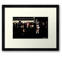 110711 323 1 comic book field hockey Framed Print