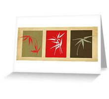 3 bamboo Greeting Card