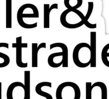 Sherlock Names (Grey) Sticker