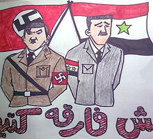 BASHAR & ADOLF by Naguib2011