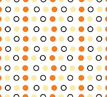 Orange Polka Dots 4s & 4 iphone case by red addiction