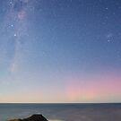 Moonlit Aurora Australis by Alex Cherney