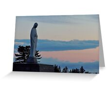 Virgin Mary Statue 2 Greeting Card