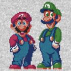 Mario and Luigi Tee by TooManyPixels