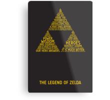 Legend of Zelda Typography Metal Print